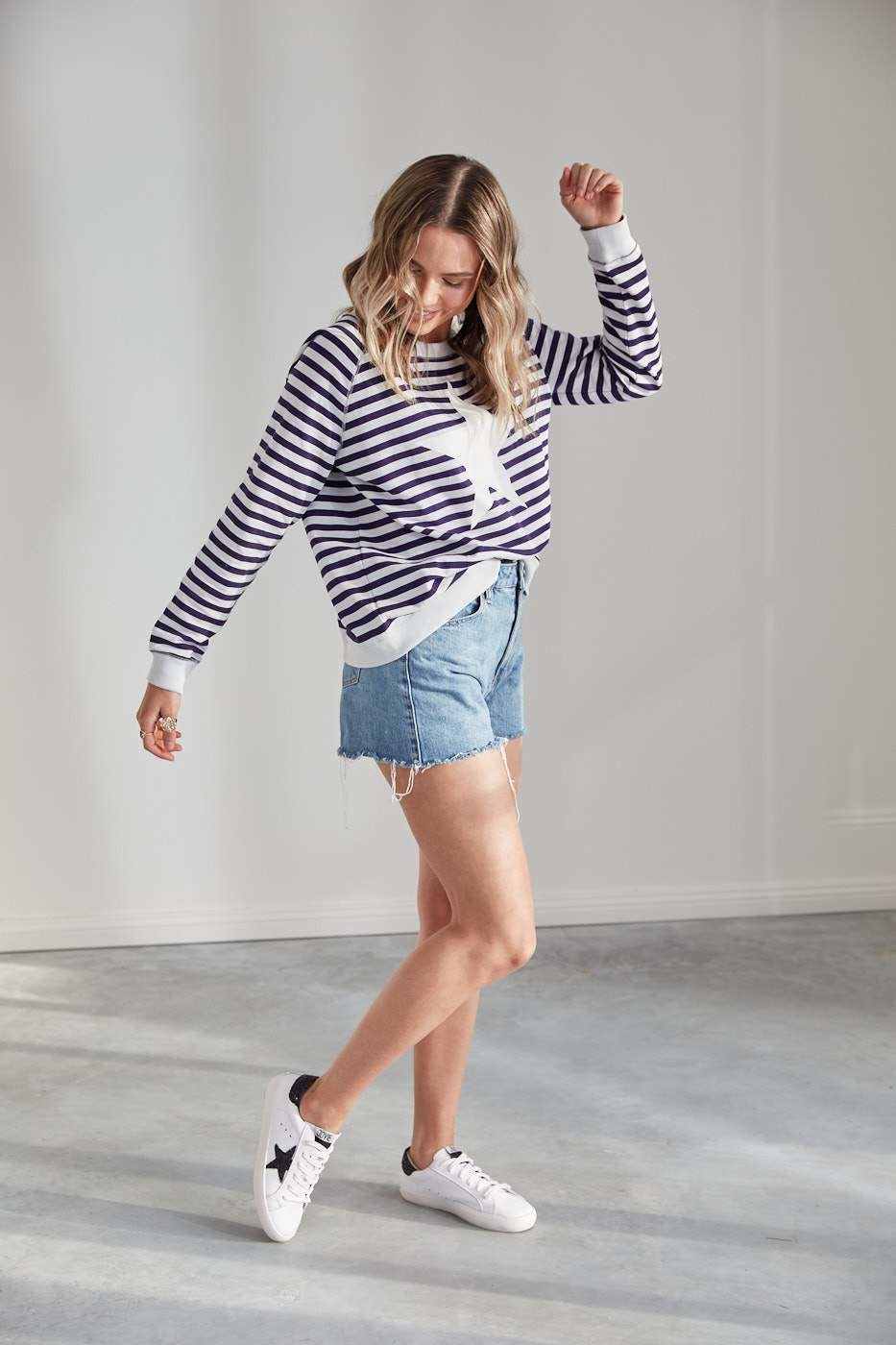 Jovie The Label St Tropez Sweater Stripe