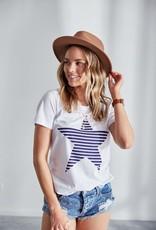 Jovie The Label Evie Tshirt White/Navy