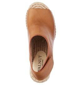 Walnut Vamp Leather Wedge Tan
