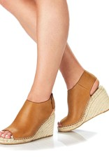 Walnut Vamp Leather Wedge Tan