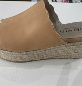 Walnut Chic Leather Flatform