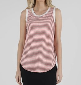 Betty Basics Keira Tank Tangello Stripe