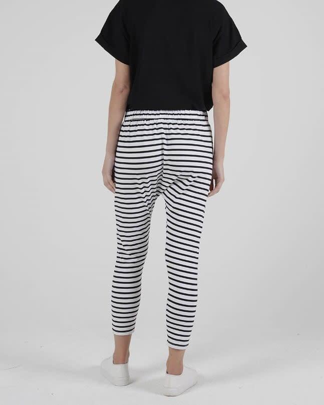 Betty Basics Lola Pant Black White Stripe