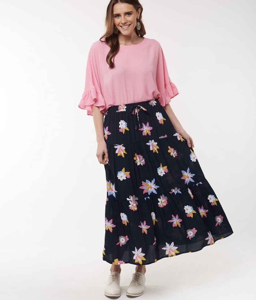 Elm Abstract Floral Skirt