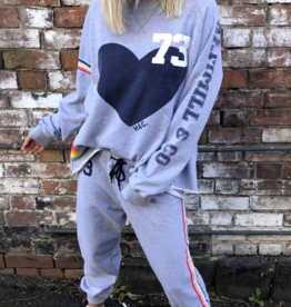 Cat Hammill Varsity Sweat Pant grey