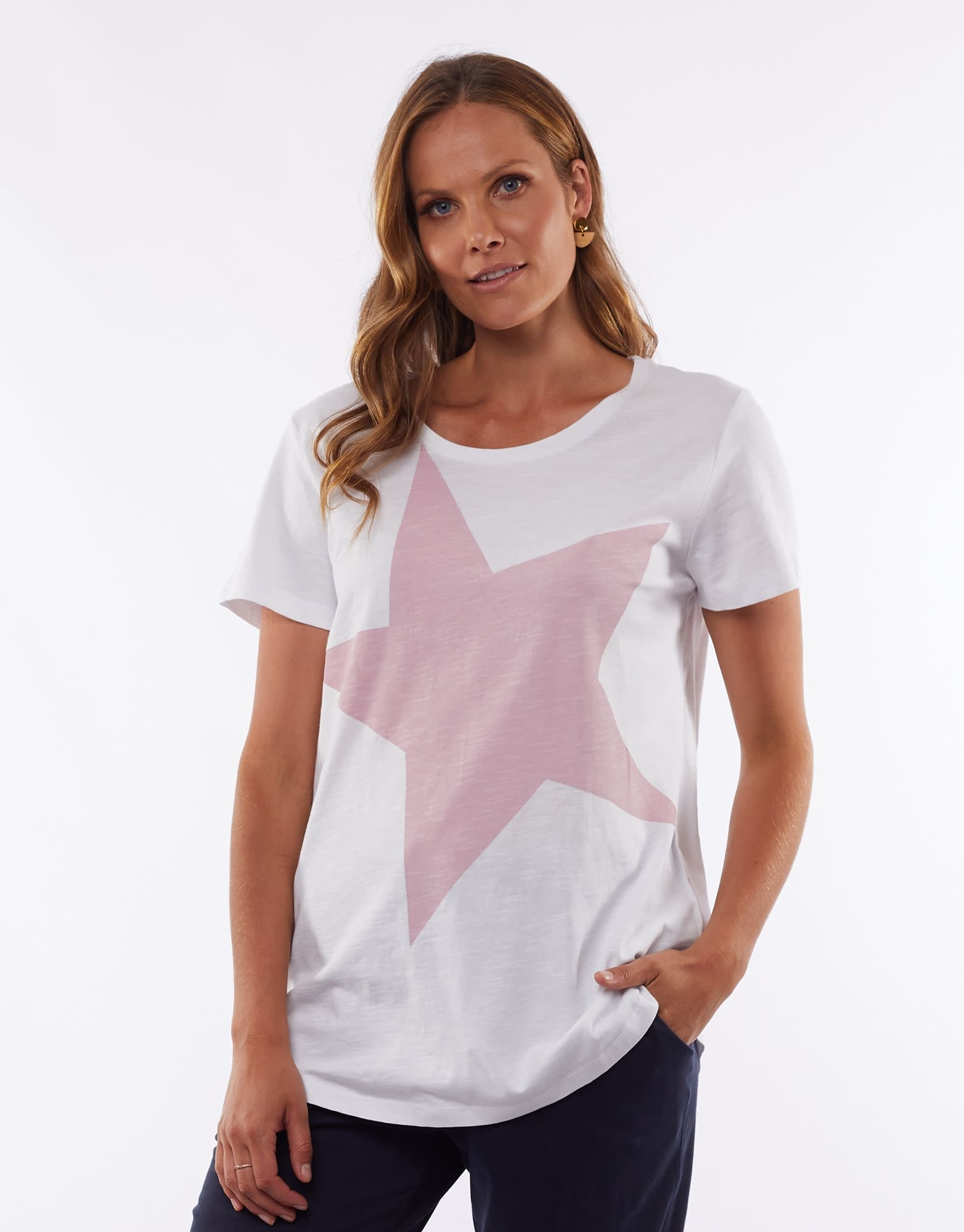 Elm Superstar Tee Pink