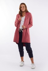 Elm Composure Hooded Cardi Rose
