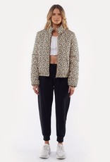 All About Eve Leopard Puffer Jacket