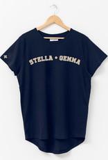 Stella & Gemma Classic Blue Varsity Tee