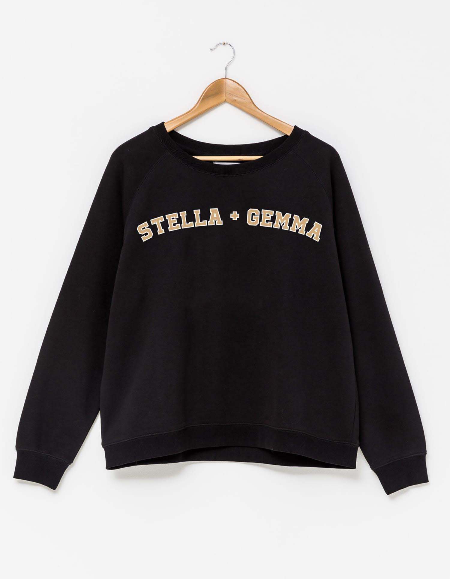 Stella & Gemma Black Varsity Logo Jumper