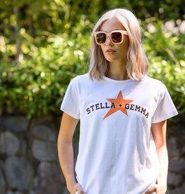 Stella & Gemma White Amber Star Varsity Tee