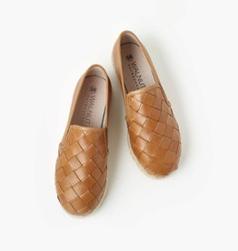 Walnut Goldie Leather Espadrille