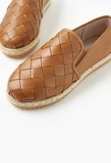 Walnut Goldie Leather Espadrille