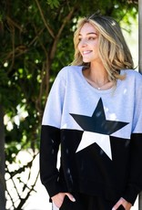 3rd Story Contrast Star Sweater