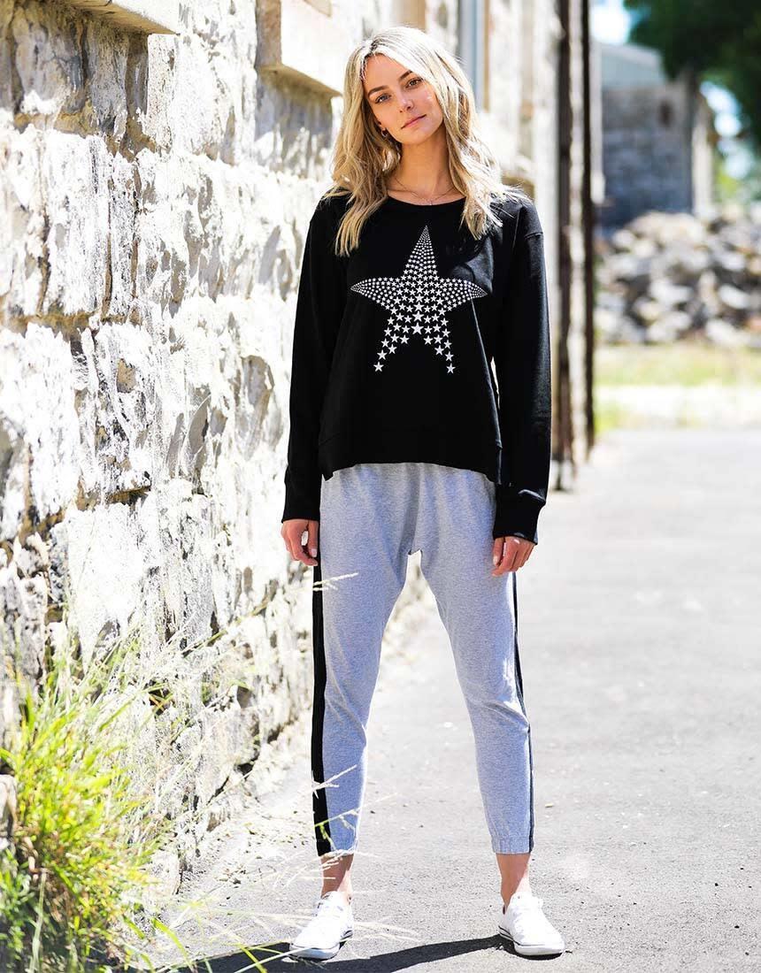 3rd Story Mini Star Sweater Black