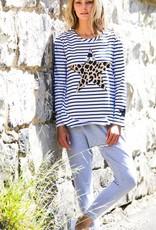 3rd Story Leopard Star Stripe Tee