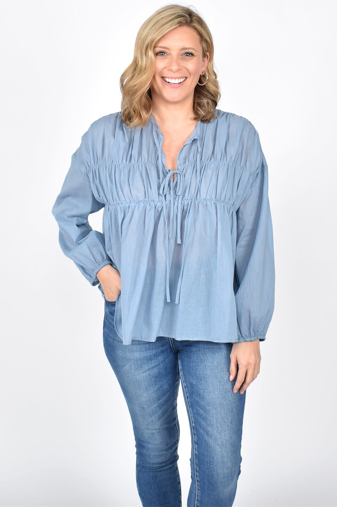 Evie Tiered Long Sleeve Top