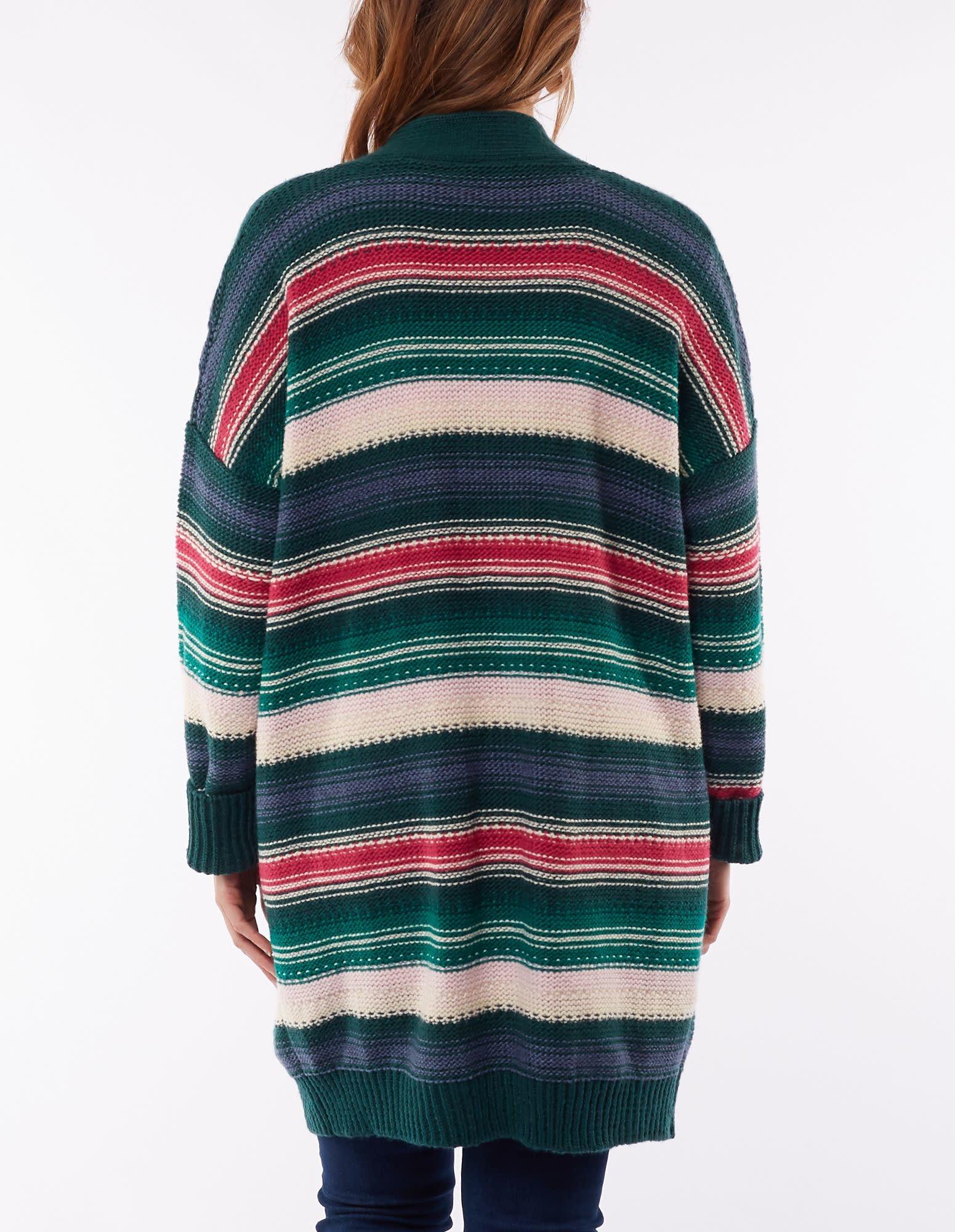 Elm Textured Stripe Cardi