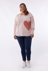 Elm Two Hearts Crew Pink