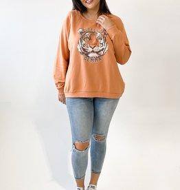 Stella & Gemma Amber Logo Tiger Sweater (N)