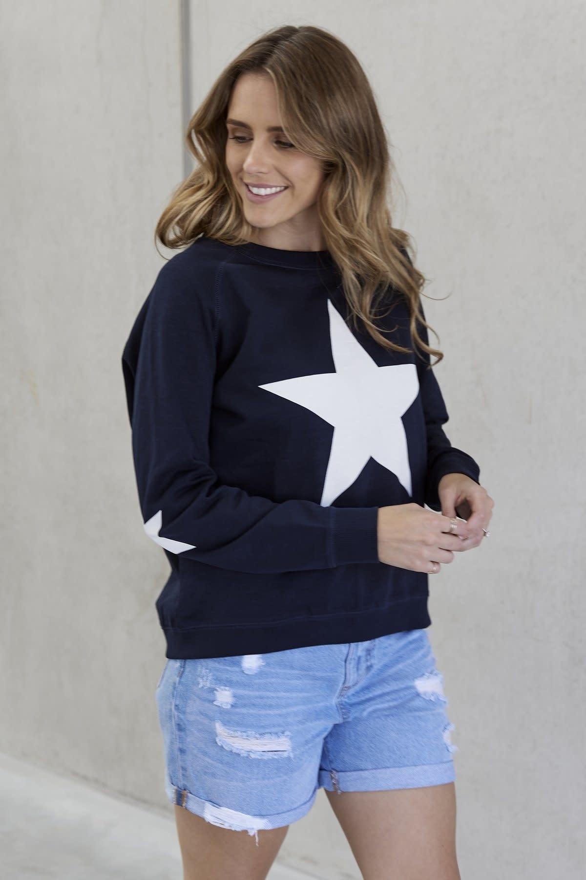 Jovie The Label Freedom Sweater Navy Star