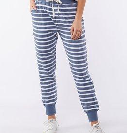 Elm Adele Stripe Lounge Pant Blue (N)