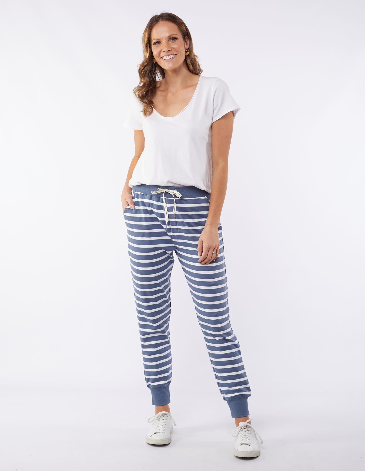 Elm Adele Stripe Lounge Pant Blue
