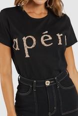 Apero Roar Bead Femme Tee Black Multi (N)