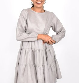 Piper Long Sleeve Dress Grey (N)