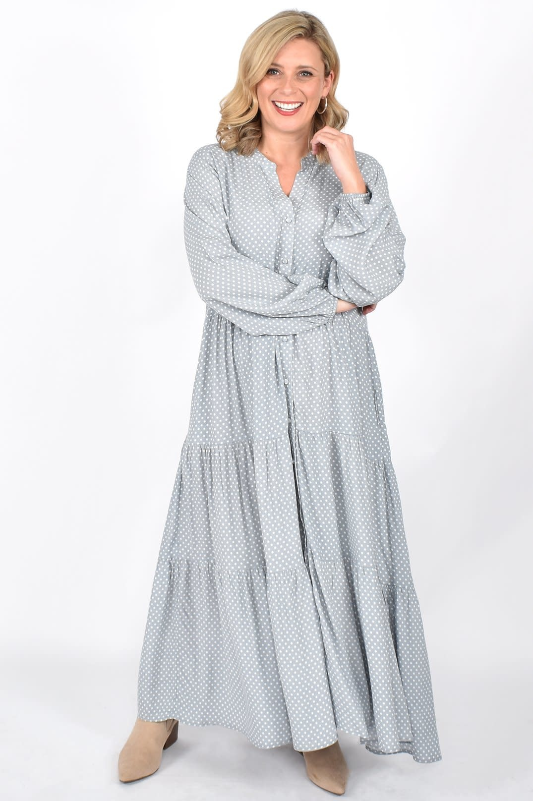 Maise LS Tiered Dress (N)