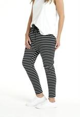 Betty Basics Jade Pant Black/White Strip (O)