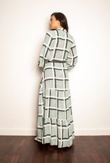 The Others The Button through Maxi Dress Moss Check