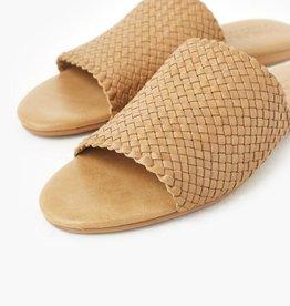 Walnut Veda Leather Slide (N)