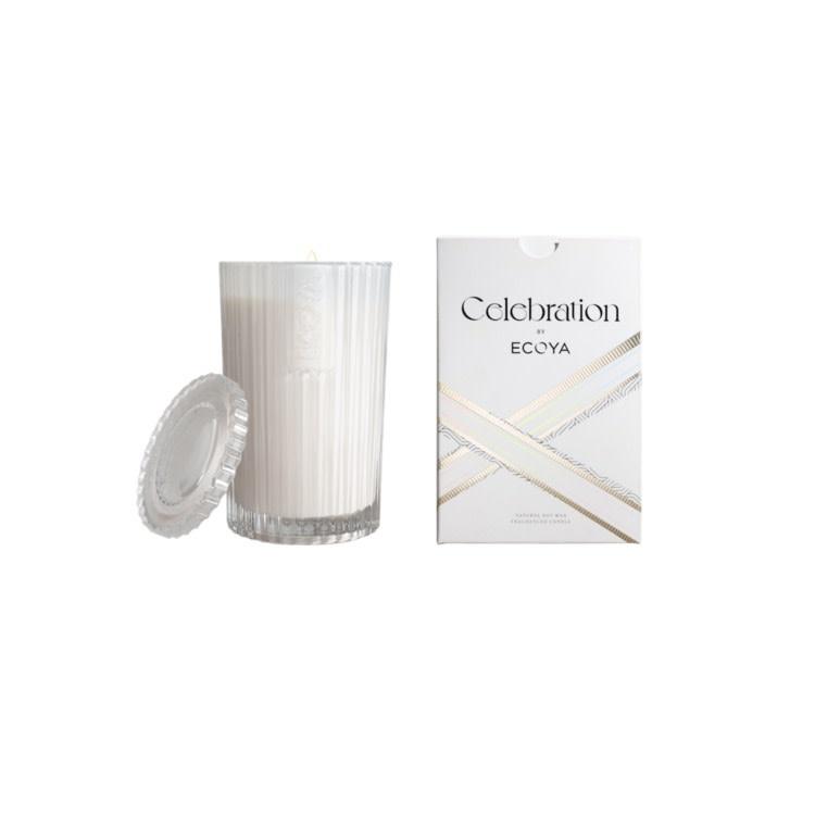 Ecoya White Musk & warm Vanilla Celebration candle