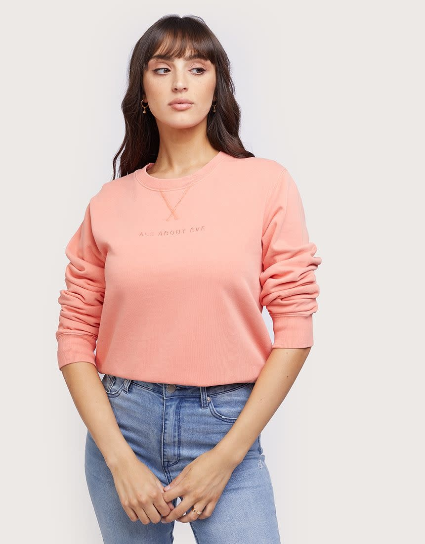 All About Eve AAE Washed Crew Peach