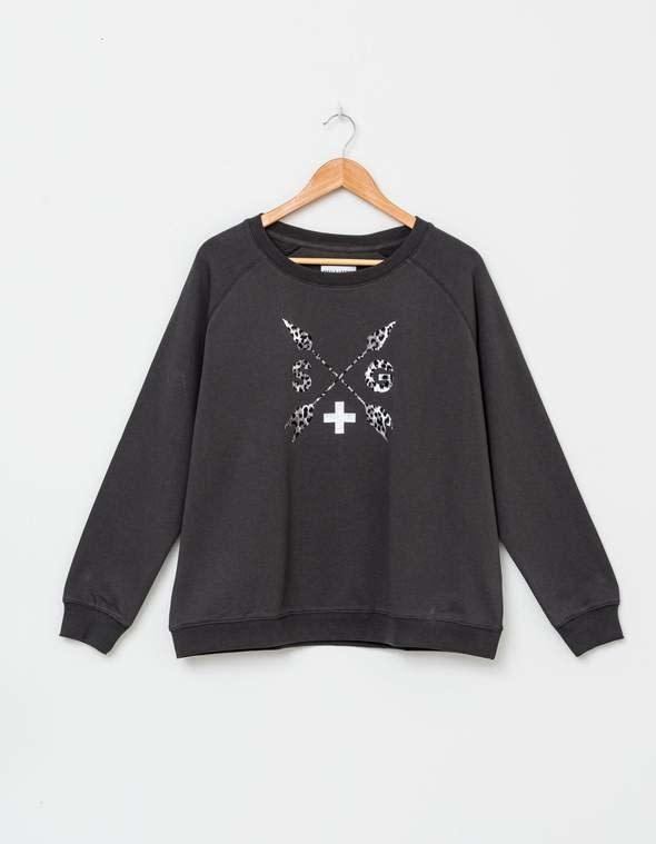 Stella & Gemma Grey Leopard Arrows Sweater
