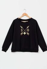 Stella & Gemma Black Leopard Arrows Sweater