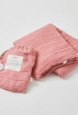 Pilbeam Living Double Muslin Blanket Dusty Rose