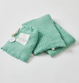Pilbeam Living Double Muslin Blanket Forrest Green
