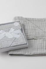 Pilbeam Living Muslin Cotton Blanket Grey Boxed