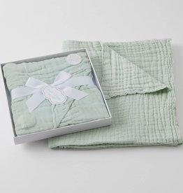 Pilbeam Living Muslin Cotton Blanket Mint Boxed