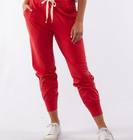 Elm Wash Out Pant Bright Red