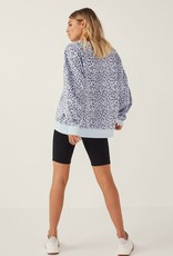 Piper Sweater Blue Leopard