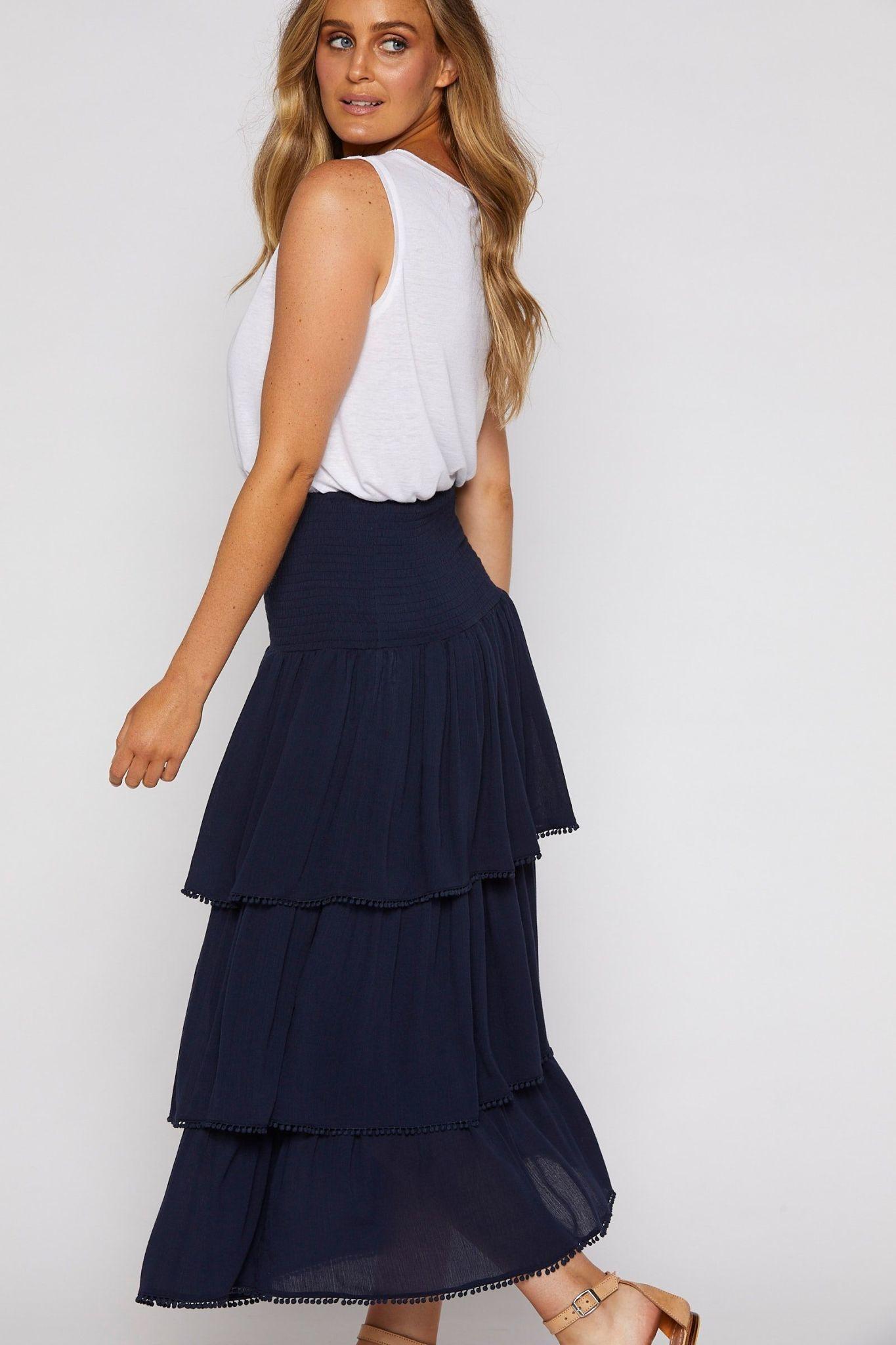 Isle Of Mine La Luna Tiered Skirt