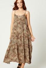 Eb & Ive Tribal Tiered Maxi Dress