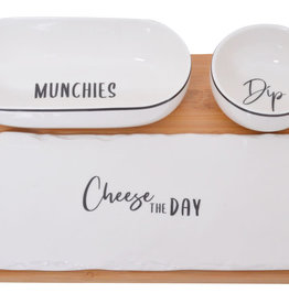 Gibson Cheese and Munchies Set