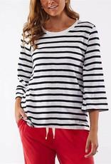 Elm Riviera 3/4 Sleeve Top Stripe