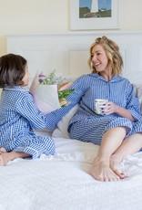 Linens Unlimited Blue Check PJ Set