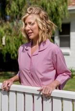 Linens Unlimited Pink Pin Stripe 3/4 PJ Set