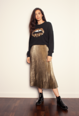 The Others The Slouchy Sweat - Black w/ Zebra Sequin Lips